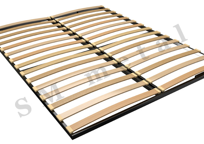 Double Bed Frame with Reinforced Metal Construction