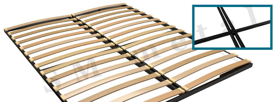 Διπλό πλαίσιο κρεβατιού με ενισχυμένη μεταλλική κατασκευή